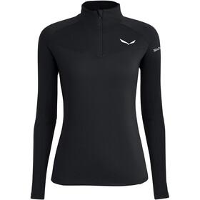 SALEWA *Sennes Dry Half Zip Langarm T-Shirt Damen black out